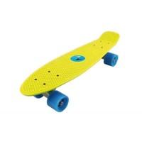 Skateboard Nextreme Freedom DHS, 57 x 15.2 cm, termoplastic, maxim 80 kg, 6 ani+, Galben