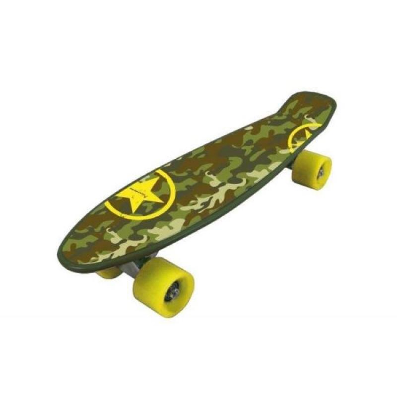 Skateboard Nextreme Freedom Pro, 57 x 15.2 cm, termoplastic, roti 60 mm, maxim 80 kg, 6 ani+, model military 2021 shopu.ro