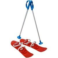 Skiuri Junior Marmat, lungime schi 42 cm, Rosu
