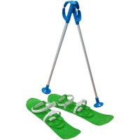 Skiuri Junior Marmat, lungime schi 42 cm, Verde