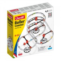 Skyraill Roller Coaster Quercetti Starter Set, 94 piese, 6 ani+