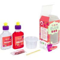 Set Slime DIY Capsuna Tuban, 6 ani+, Rosu