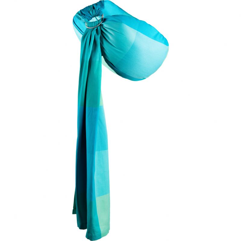 Sling Hug Me N16 EKO Womar Zaffiro, bumbac, 0 luni+, Albastru 2021 shopu.ro