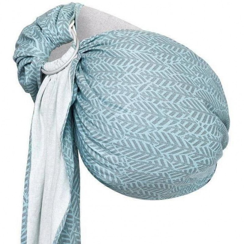 Sling Hug Me N16 Womar Zaffiro, 195 x 70 cm, 3.5 -13 kg, 2 ani+, Mint Leaves 2021 shopu.ro