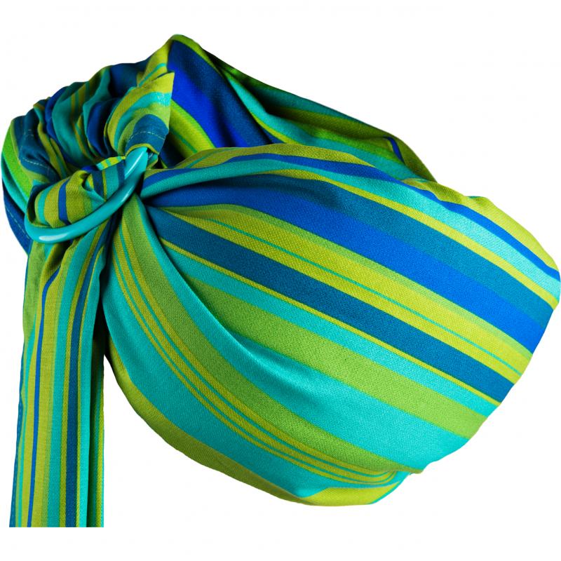 Sling Hug Me N16 Womar Zaffiro, 0 luni+, Verde/Albastru 2021 shopu.ro