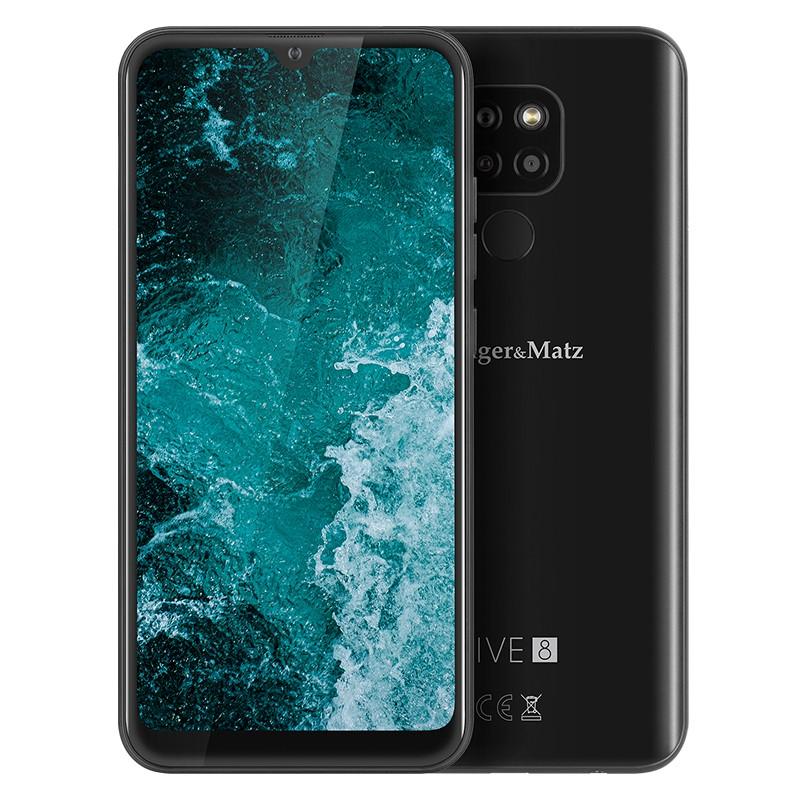 Smartphone Live 8 Kruger&Matz, display 6.08 inch, 64 GB, 720 x 1560 px, 4000 mAh, Negru 2021 shopu.ro