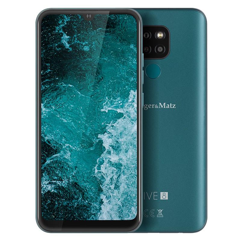 Smartphone Live 8 Kruger&Matz, display 6.08 inch, 64 GB, 720 x 1560 px, 4000 mAh, Verde 2021 shopu.ro