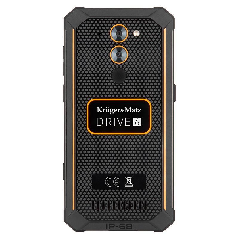 Smartphone Rugged Drive 6 Kruger Matz, 4500 mAh, 32 GB, Android 9.0, Quad-Core, 3 RAM, ecran Gorilla, rezolutie HD, G senzor