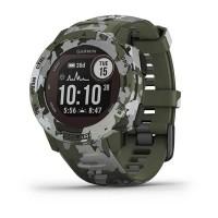 Ceas smartwatch Garmin Instinct Solar Camo Edition, 0.9 inch, GPS, Bluetooth, ANT+, Heart Rate Sensor, Timer, Waterproof, Android, iOS, Lichen Camo