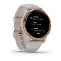 Ceas smartwatch Garmin Venu, WiFi, Bluetooth, GPS, 5 ATM, display AMOLED, Garmin Pay, ANT+, Android, iOS, Rose Gold