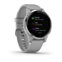 Ceas Smartwatch Garmin Vivoactive 4S, WiFi, Bluetooth, GPS, 5 ATM, Waterproof, LiveTrack, Sleep Tracking, Garmin Pay, Android, iOS, Silver