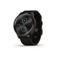 Ceas smartwatch Garmin Vivomove Style, Bluetooth, GPS, 5 ATM, Waterproof, display AMOLED, Barometru, ANT+, Android, iOS, aluminiu, Dark Grey
