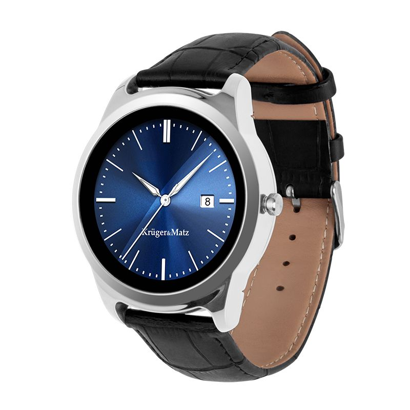 Ceas Smartwatch Kruger Matz Style2, Pedometru, Vreme, Calendar