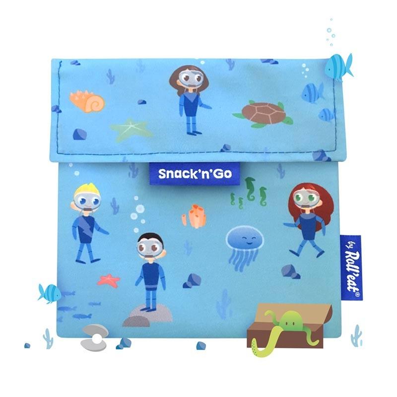Gentuta reutilizabila gustari Snack'n'Go Kids Ocean Roll'Eat 2021 shopu.ro