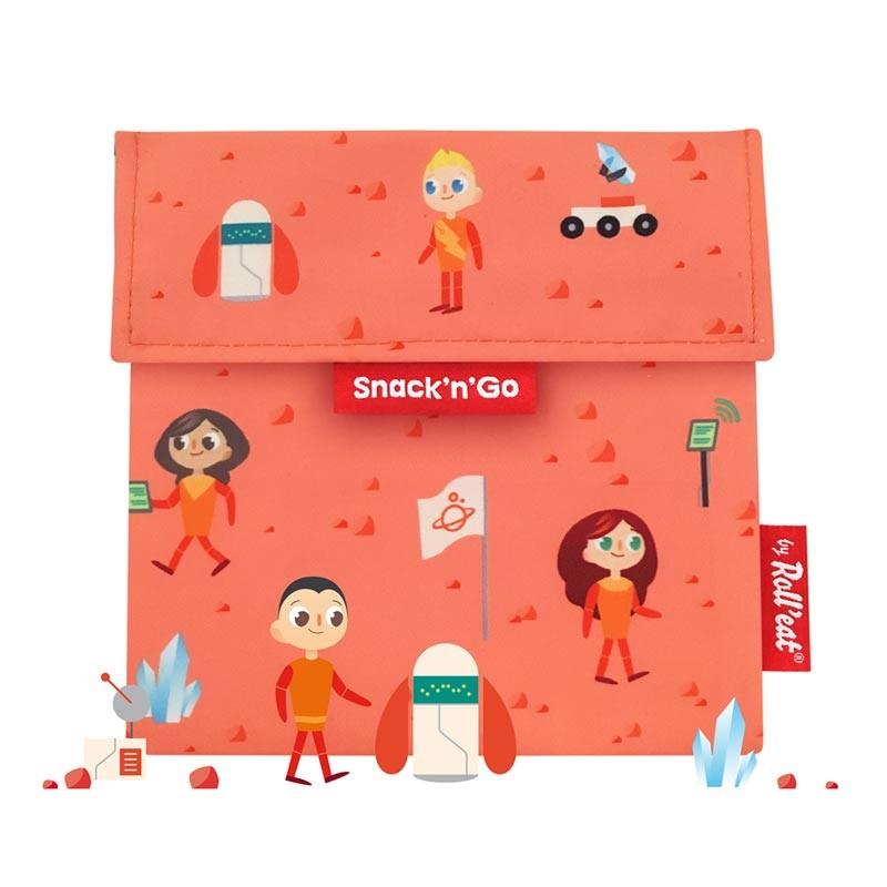 Gentuta reutilizabila pentru gustari Snack'n'Go Kids Space 2021 shopu.ro
