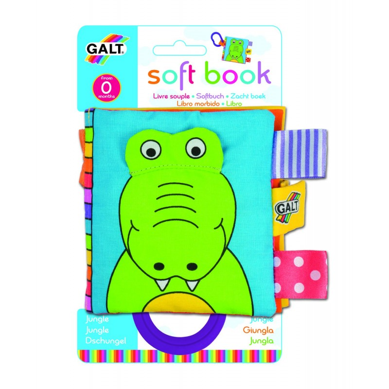 Carticica moale pentru bebelusi Galt Jungle, 8 pagini, fosnete, lavabila 2021 shopu.ro