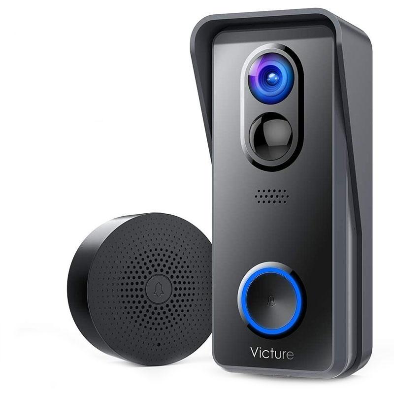 Sonerie Smart Victure Camera Wireless, 1080P HD, Wi-Fi, detectare miscare, convorbire bidirectionala, control aplicatie 2021 shopu.ro