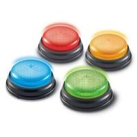 Set sonerii cu lumini si sunete pentru raspuns Learning Resources, 4 bucati