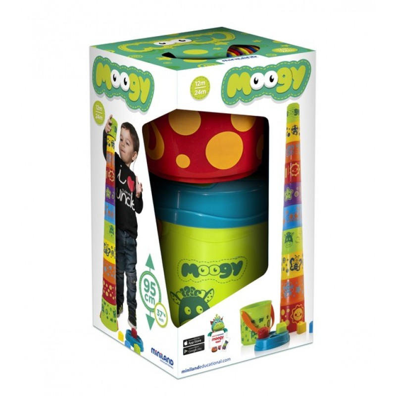 Sortator forme Giantte Moogy Miniland, 10 cupe, galetusa inclusa 2021 shopu.ro