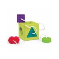 Sortator de forme pentru bebelusi OombeeCube Fat Brain Toys, 6 luni+