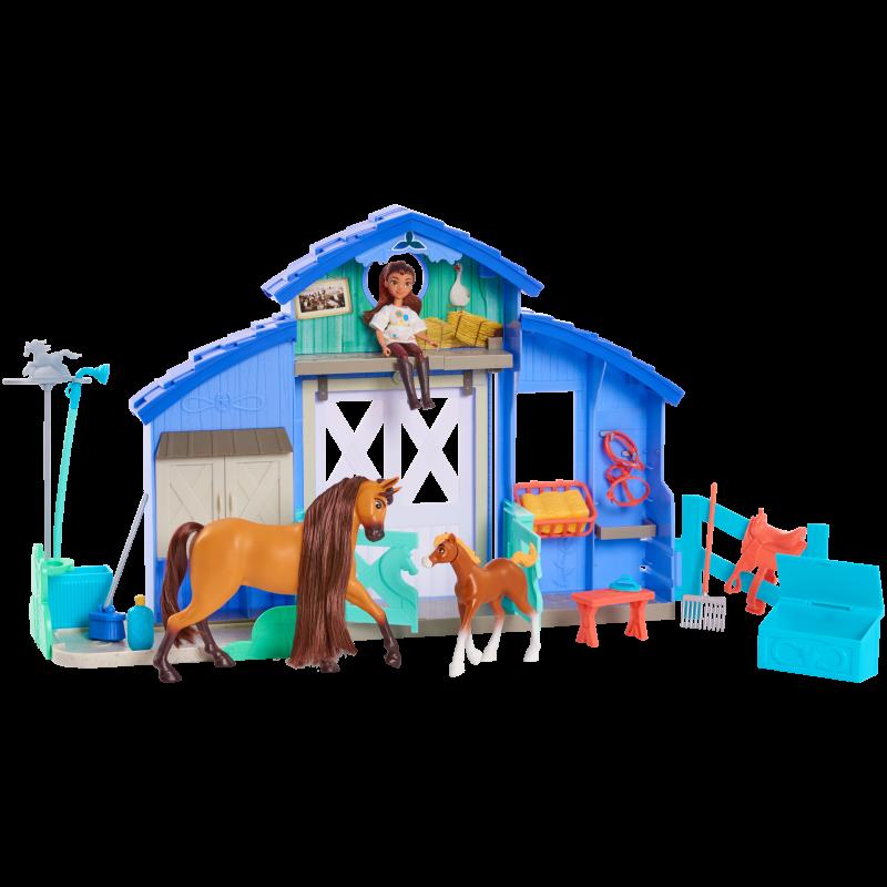 Set de joaca Padoc DreamWorks Lucky si Spirit, 10 accesorii, 3 ani+ 2021 shopu.ro