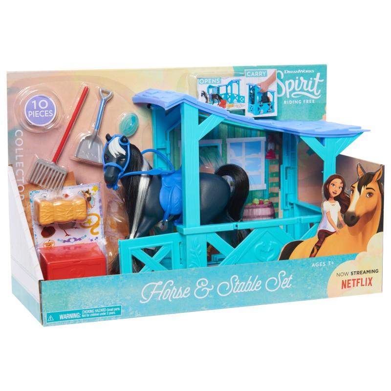 Set de joaca Grajd DreamWorks Spirit Riding Fre, 10 accesorii, 3 ani+ 2021 shopu.ro