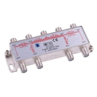 Amplificator cablu TV/radio Power Pass, 8 iesiri, carcasa aluminiu