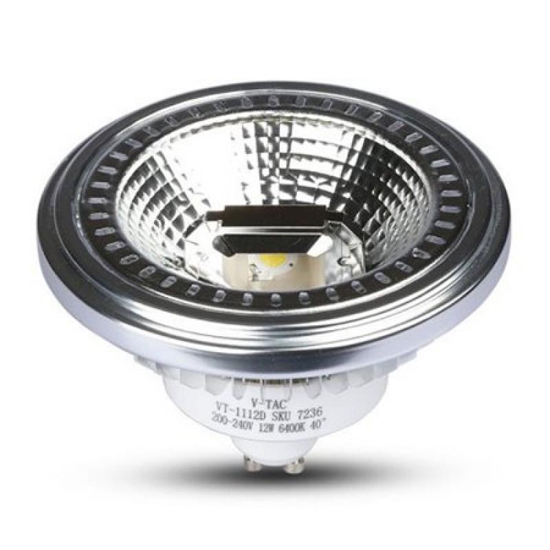 Spot LED V-Tac, 12 W, GU10, 4500 K, IP20, 900 lumeni, aluminiu shopu.ro