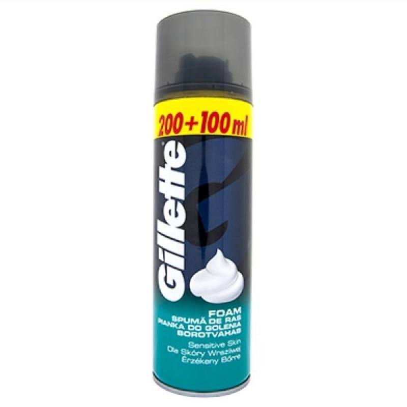 Spuma de ras pentru piele sensibila Gillette Regular, 300 ml 2021 shopu.ro