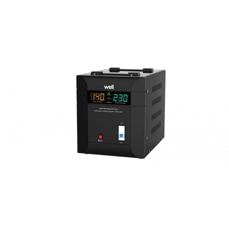 Stabilizator automat de tensiune Well Agile, 3000VA/2100W shopu.ro