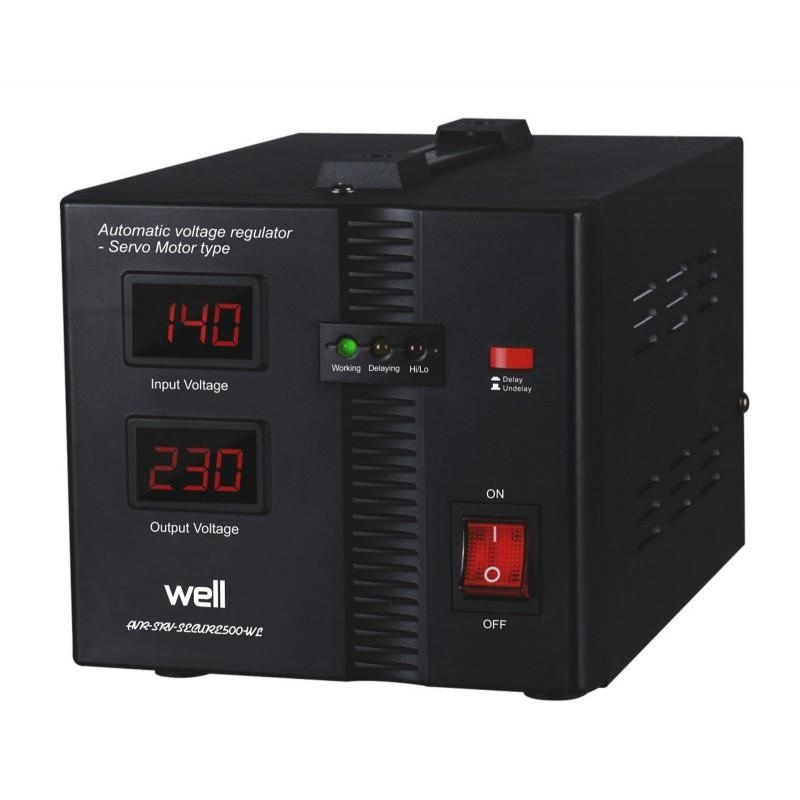 Stabilizator automat de tensiune Well, servo motor Secure, 500 VA shopu.ro