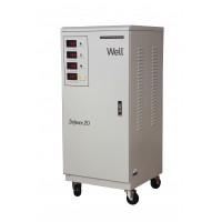 Stabilizator automat de tensiune trifazat Well, 20 KVA/16 KW, Bypass manual