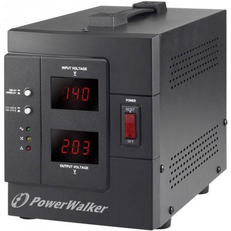 Stabilizator de tensiune PowerWalker 1500VA/1200W, iesire 2 x Shuko, protectie la supratensiune shopu.ro