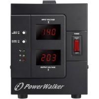 Stabilizator de tensiune PowerWalker, 2000VA, 1600 W, iesire 2 x Shuko, protectie la supraincarcare