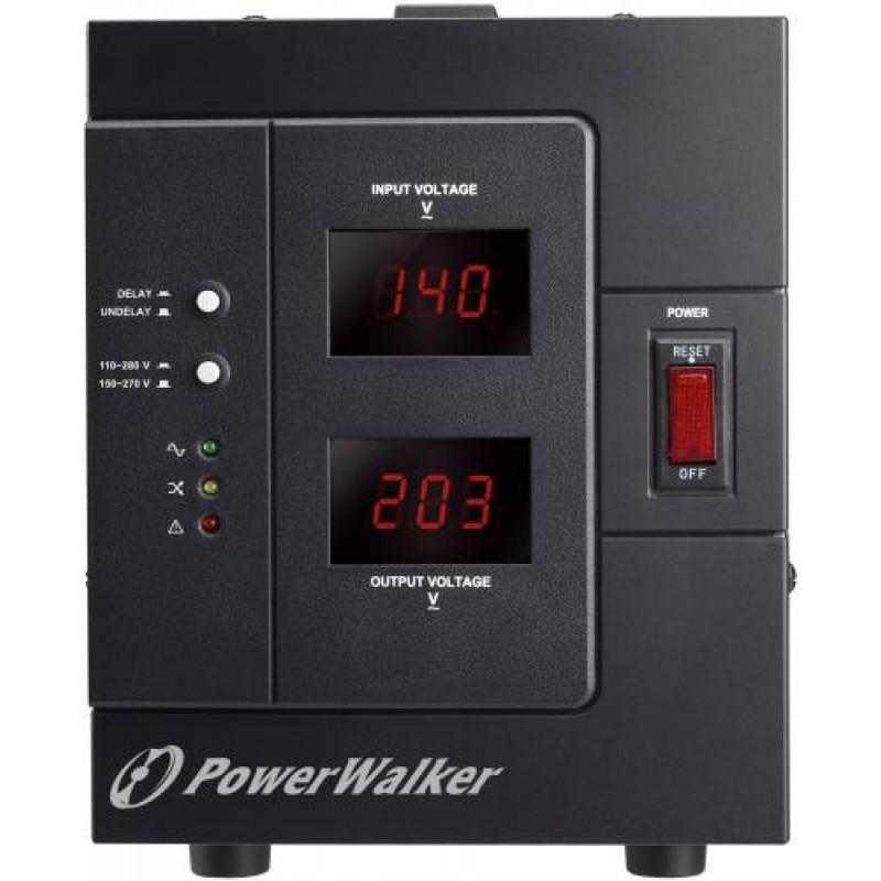 Stabilizator de tensiune PowerWalker, 3000 VA, 2400 W, iesire 1 x Shuko, protectie la supraincarcare shopu.ro