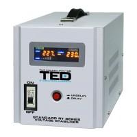 Stabilizator automat de tensiune TED, 3000 W, 5000 VA, alarma sonora, unda sinusoidala pura