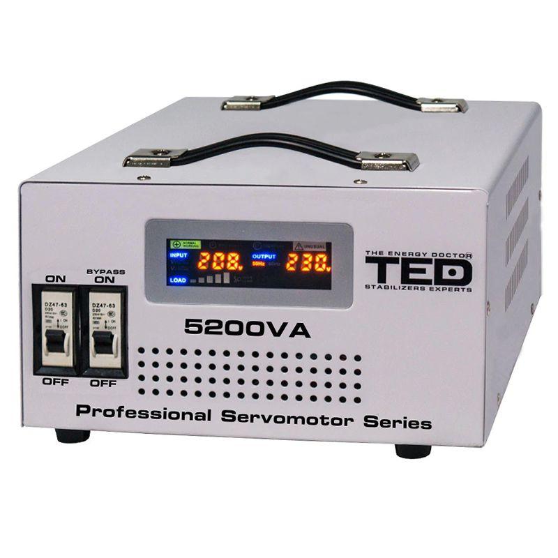 Stabilizator automat de tensiune TED, 3000 VA, 1800 W, transformator toroidal shopu.ro