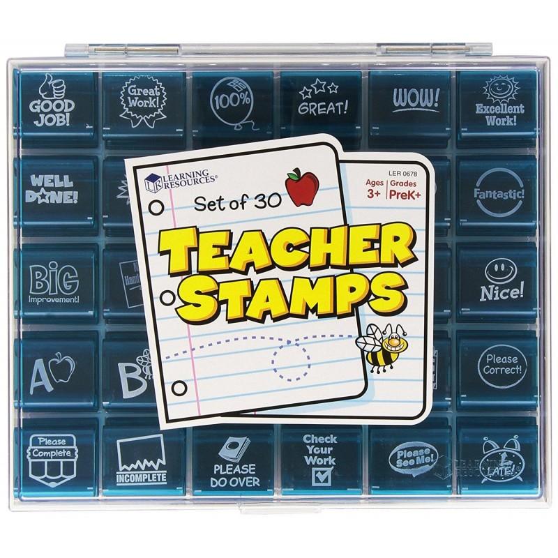 Stampilele profesorului Learning Resources, viu colorate, 3 - 12 ani 2021 shopu.ro
