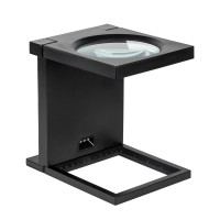 Stand lupa 108 mm, 2.5D, iluminare cu 3 LED-uri