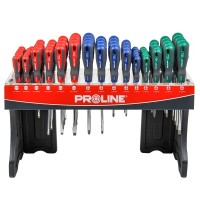 Stand surubelnite Proline, 68 de piese, maner soft touch, antiderapant