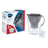 Starter pack Brita Marella, 2.4 L, 3 filtre Maxtra+, palnie plastic, indicator memo, Graphite