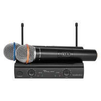 Statie 2 microfoane UHF U3000 Azusa, 2 canale, antena incorporata