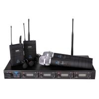 Statie 2 microfoane PLL400, 100 canale, LCD, 2 lavaliere