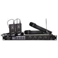 Statie cu 4 Microfoane Azusa LS888, 2 wireless, 2 lavaliera