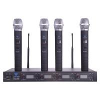 Statie 4 microfoane UHF PLL400, afisaj LCD, 100 canale