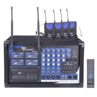 Statie 4 lavaliere PA-180 UHF, 4 canale, receptor wireless incorporat