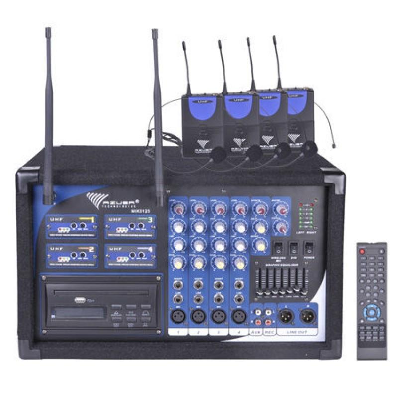 Statie 4 lavaliere PA-180 UHF, 4 canale, receptor wireless incorporat 2021 shopu.ro