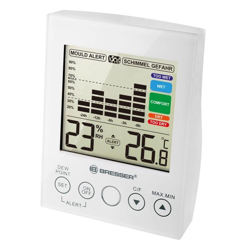 Statie meteo Bresser MA, termometru, higrometru, alarma, Alb 2021 shopu.ro