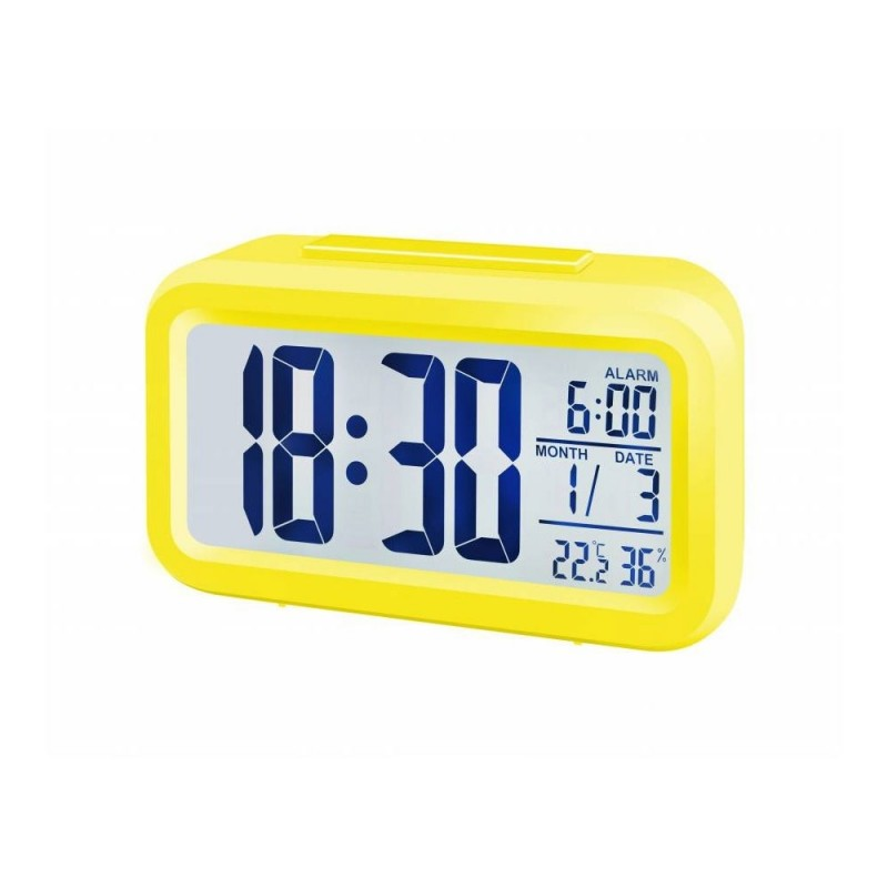 Statie meteo Bresser MyTime Duo 8010014, termometru, higrometru, alarma, Galben 2021 shopu.ro