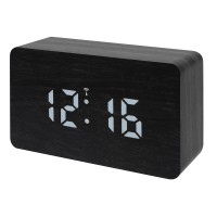 Statie meteo Bresser MyTime W RC, termometru, alarma, LED alb, Negru